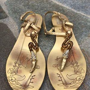 🐍Dolce Vita Gold Snake Gladiator Sandals 🐍